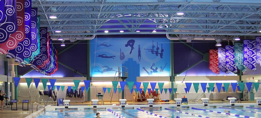 2014 Coquitlam Aqua Centre Wall Graphics