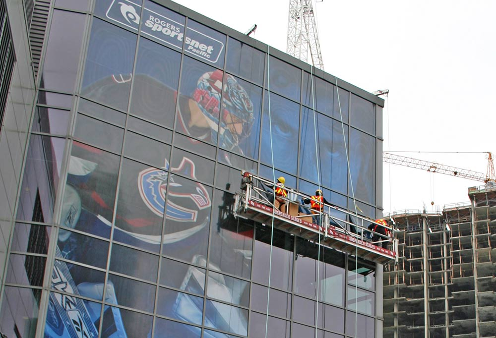 Rogers Arena Window Graphics Install