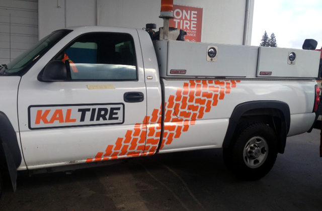 Kal Tire Truck Decal 2016