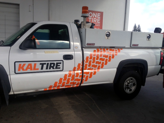 Kal Tire Truck Decal 2016