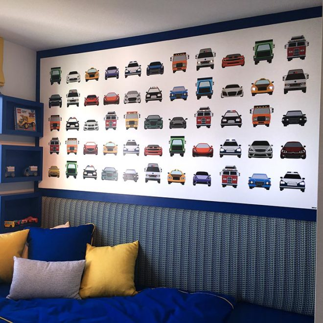Polygon Homes showroom: wall mural in child's room