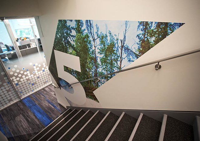 Office Wall Graphics for Pacific Blue Cross by AMPCO Graphics
