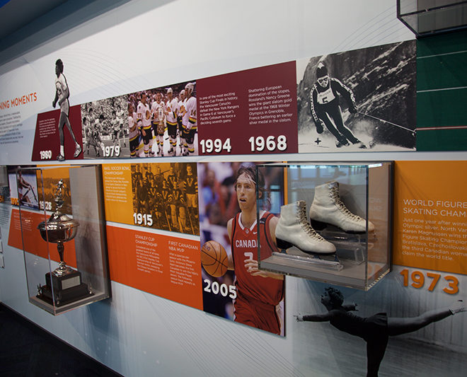 Environmental Graphics for the BC Hall of Fame by AMPCO Graphics