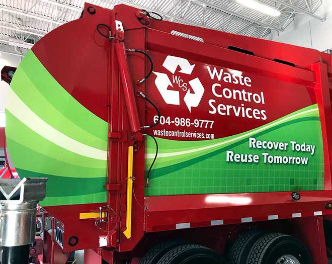 Vehicle Graphics for Waste Control Services